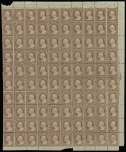 Sale Number 913, Lot Number 963, Complete Sheets and Panes3c Dull Red, Ty. II (26), 3c Dull Red, Ty. II (26)