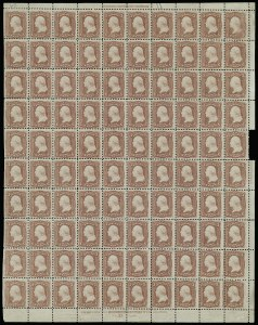 Sale Number 913, Lot Number 964, Complete Sheets and Panes3c Rose (65), 3c Rose (65)