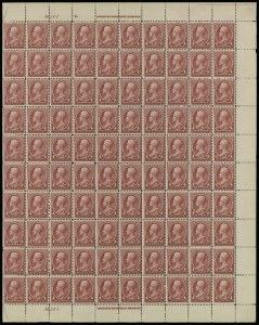 Sale Number 913, Lot Number 967, Complete Sheets and Panes4c Carmine (215), 4c Carmine (215)