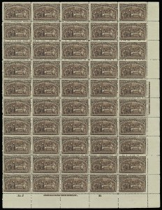 Sale Number 913, Lot Number 973, Complete Sheets and Panes5c Columbian (234), 5c Columbian (234)