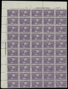 Sale Number 913, Lot Number 974, Complete Sheets and Panes6c Columbian (235), 6c Columbian (235)
