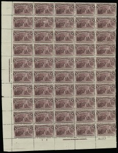 Sale Number 913, Lot Number 975, Complete Sheets and Panes8c Columbian (236), 8c Columbian (236)