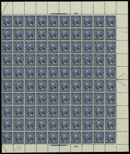Sale Number 913, Lot Number 977, Complete Sheets and Panes5c Dark Blue (281), 5c Dark Blue (281)