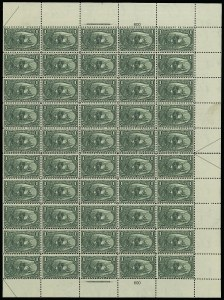 Sale Number 913, Lot Number 978, Complete Sheets and Panes1c Trans-Mississippi (285), 1c Trans-Mississippi (285)