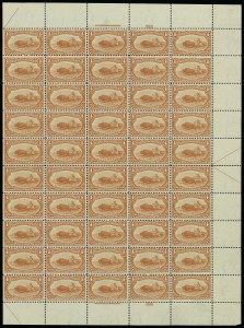 Sale Number 913, Lot Number 980, Complete Sheets and Panes4c Trans-Mississippi (287), 4c Trans-Mississippi (287)