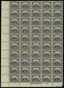 Sale Number 913, Lot Number 987, Complete Sheets and Panes8c Pan-American (298), 8c Pan-American (298)