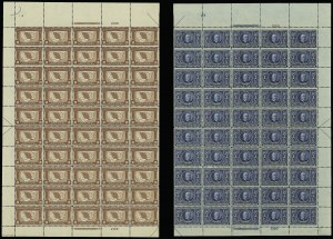 Sale Number 913, Lot Number 989, Complete Sheets and Panes1c-10c Louisiana Purchase (323-327), 1c-10c Louisiana Purchase (323-327)
