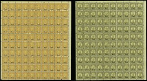 Sale Number 913, Lot Number 994, Complete Sheets and Panes1c-10c Kans., Nebr. Overprints (658-679), 1c-10c Kans., Nebr. Overprints (658-679)