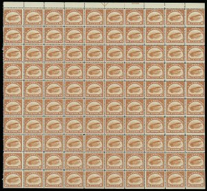 Sale Number 913, Lot Number 997, Complete Sheets and Panes6c Orange, 1918 Air Post (C1), 6c Orange, 1918 Air Post (C1)