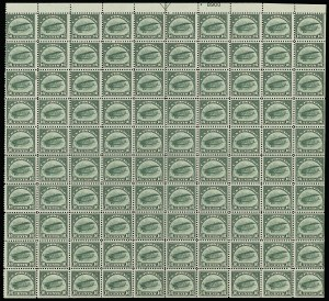 Sale Number 913, Lot Number 998, Complete Sheets and Panes16c Green, 1918 Air Post (C2), 16c Green, 1918 Air Post (C2)