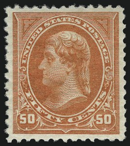 Sale Number 914, Lot Number 1084, 1894-98 Bureau Issues (Scott 246 thru 263)50c Orange (260), 50c Orange (260)