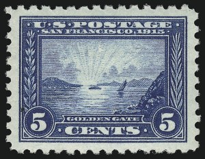 Sale Number 914, Lot Number 1503, 1913-15 Panama-Pacific Issue (Scott 397 thru 404)5c Panama-Pacific, Perf 10 (403), 5c Panama-Pacific, Perf 10 (403)