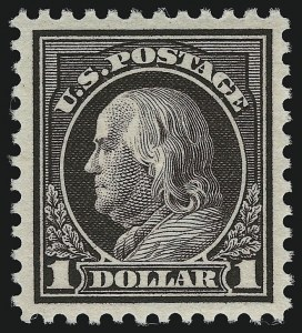 Sale Number 914, Lot Number 1764, 1912-23 Issues (Scott 491 to 519)$1.00 Violet Brown (518), $1.00 Violet Brown (518)