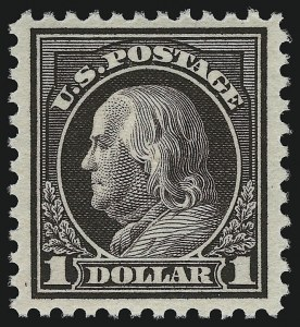 Sale Number 914, Lot Number 1768, 1912-23 Issues (Scott 491 to 519)$1.00 Violet Brown (518), $1.00 Violet Brown (518)