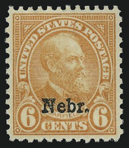 Sale Number 914, Lot Number 1932, 1922-29 and Later Issues (Scott 617 to 834)6c Nebr. Ovpt. (675), 6c Nebr. Ovpt. (675)
