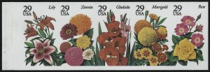 Sale Number 914, Lot Number 2520, Modern Booklet Panes29c Flowers, Booklet Pane of Five, Imperforate (2833b), 29c Flowers, Booklet Pane of Five, Imperforate (2833b)