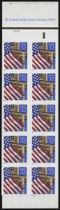 Sale Number 914, Lot Number 2522, Modern Booklet Panes32c Flag Over Porch, Booklet Pane of Ten, Imperforate (2916b), 32c Flag Over Porch, Booklet Pane of Ten, Imperforate (2916b)