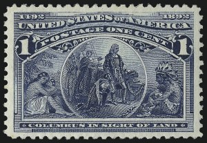 Sale Number 914, Lot Number 948, 1893 Columbian Issue1c Columbian (230), 1c Columbian (230)
