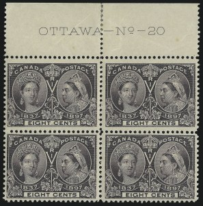 Sale Number 916, Lot Number 4153, Imprint and Plate Number Multiples8c Jubilee (56), 8c Jubilee (56)