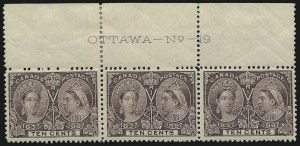 Sale Number 916, Lot Number 4154, Imprint and Plate Number Multiples10c Jubilee (57), 10c Jubilee (57)