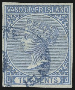 Sale Number 916, Lot Number 4515, British Columbia and Vancouver Island1865, 10c Blue (4), 1865, 10c Blue (4)