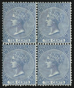 Sale Number 916, Lot Number 4516, British Columbia and Vancouver Island1865, 10c Blue (6), 1865, 10c Blue (6)