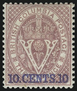Sale Number 916, Lot Number 4517, British Columbia and Vancouver Island1867, 10c on 3p Lilac Rose (10), 1867, 10c on 3p Lilac Rose (10)