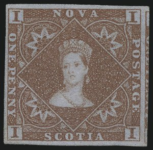Sale Number 916, Lot Number 4542, Nova Scotia and Prince Edward Island1853, 1p Red Brown (1), 1853, 1p Red Brown (1)