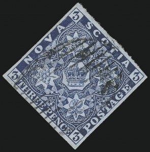 Sale Number 916, Lot Number 4544, Nova Scotia and Prince Edward Island1851, 3p Bright Blue, Dark Blue (2, 3), 1851, 3p Bright Blue, Dark Blue (2, 3)