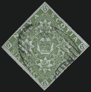 Sale Number 916, Lot Number 4545, Nova Scotia and Prince Edward Island1851, 6p Yellow Green (4), 1851, 6p Yellow Green (4)