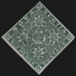 Sale Number 916, Lot Number 4546, Nova Scotia and Prince Edward Island1857, 6p Dark Green (5), 1857, 6p Dark Green (5)