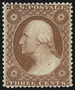 Sale Number 918, Lot Number 20, 1857-60 Issue3c Dull Red, Ty. II (26). Mint N.H, 3c Dull Red, Ty. II (26). Mint N.H