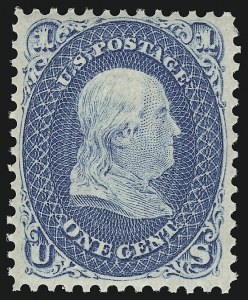 Sale Number 918, Lot Number 31, 1861-66 Issue1c Blue (63). Mint N.H, 1c Blue (63). Mint N.H