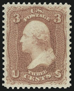Sale Number 918, Lot Number 32, 1861-66 Issue3c Rose (65). Mint N.H, 3c Rose (65). Mint N.H