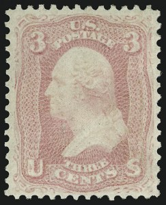 Sale Number 918, Lot Number 33, 1861-66 Issue3c Pink (64), 3c Pink (64)