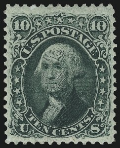 Sale Number 918, Lot Number 35, 1861-66 Issue10c Yellow Green (68), 10c Yellow Green (68)