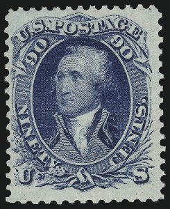 Sale Number 918, Lot Number 39, 1861-66 Issue90c Blue (72), 90c Blue (72)