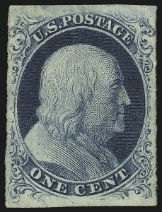 Sale Number 918, Lot Number 4, 1851-56 Issue1c Blue, Ty. III (8), 1c Blue, Ty. III (8)