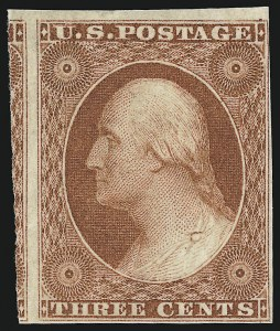 Sale Number 918, Lot Number 7, 1851-56 Issue3c Orange Brown (10), 3c Orange Brown (10)