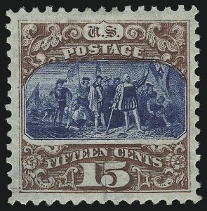 Sale Number 918, Lot Number 72, 1875 Re-Issue of 1869 Pictorial Issue15c Brown & Blue, Re-Issue (129), 15c Brown & Blue, Re-Issue (129)