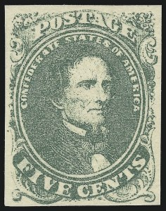 Sale Number 918, Lot Number 78, Confederate States General Issues5c Green, Stone 2 (1), 5c Green, Stone 2 (1)