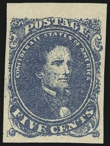 Sale Number 918, Lot Number 81, Confederate States General Issues5c Blue, Stone 2 (4), 5c Blue, Stone 2 (4)