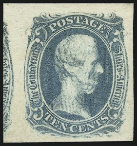 "Sale Number 918, Lot Number 85, Confederate States General Issues10c Blue, ""TEN"" (9), 10c Blue, ""TEN"" (9)"