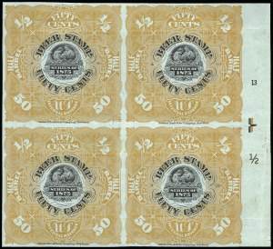 Sale Number 919, Lot Number 253, 1875 Issue1875, 50c Orange, -1/2bbl., Beer (REA34), 1875, 50c Orange, -1/2bbl., Beer (REA34)