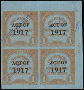 Sale Number 919, Lot Number 374, 1918 Provisional Issue1918, ($6.00) Ty. A Surcharge on ($3.00) Red Orange on Blue, 1bbl., Ty. C Surcharge, No. REA125c, Beer (REA145), 1918, ($6.00) Ty. A Surcharge on ($3.00) Red Orange on Blue, 1bbl., Ty. C Surcharge, No. REA125c, Beer (REA145)