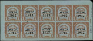 Sale Number 919, Lot Number 376, 1918 Provisional Issue1918, ($6.00) Ty. A Surcharge on ($3.00) Red Orange on Blue, 1bbl., Ty. C Surcharge, No. REA125c, Beer (REA145), 1918, ($6.00) Ty. A Surcharge on ($3.00) Red Orange on Blue, 1bbl., Ty. C Surcharge, No. REA125c, Beer (REA145)