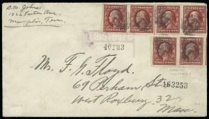 Sale Number 920, Lot Number 209, Washington-Franklin Issues2c Carmine, Imperforate Coil (384H), 2c Carmine, Imperforate Coil (384H)