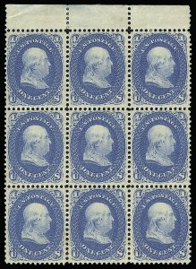 Sale Number 920, Lot Number 61, 1861-66 Issue1c Blue (63), 1c Blue (63)