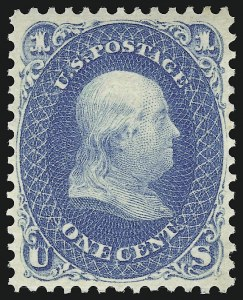 Sale Number 920, Lot Number 62, 1861-66 Issue1c Blue (63). Mint N.H, 1c Blue (63). Mint N.H