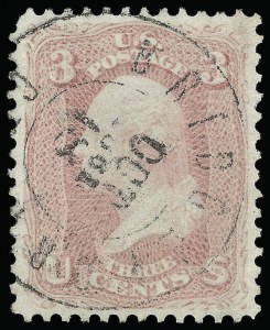 Sale Number 920, Lot Number 63, 1861-66 Issue3c Pink (64), 3c Pink (64)